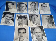 1950's or 1960's 10 small sizes old original black & White Photographs of Cricke