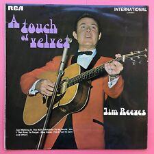 Jim Reeves - A Touch of Velvet - RCA ints-1089 EX+ état Vinyle LP