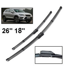 """For SEAT Ateca 2016 2017 2018 2019 Front Windshield Wiper Blades Set LHD 26""""18"""""""