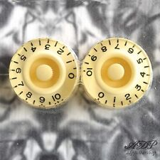 2 BOUTONS PLEXI CREME GRAVE inchSize SPEED KNOBS CREAM Gibson LP SG PK0130-028