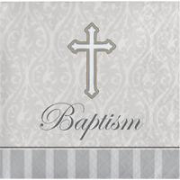 FC-6533 Cross Design Keychain Favors Baptism Christening