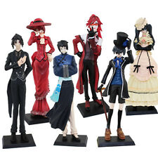"6cps Kuroshitsuji Sebastian Ciel Grell Lau Madam Red 12cm/4.8"" PVC Figure Loose"