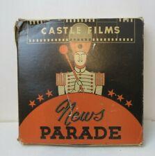 WWII CASTLE FILMS NEWS PARADE 16mm FILM #155 MANILA LIBERATED & IWO JIMA