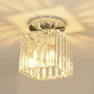 Crystal LED Ceiling Light Fixtures E27 Bulb Replaceable Downlight Hallway Lobby