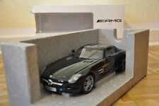 1:18 Minichamps Mercedes-Benz SLS AMG Obsidian Noir Metallic NOUVEAU & NEUF dans sa boîte