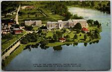 1940s Baton Rouge, Louisiana Postcard LADY OF THE LAKE HOSPITAL Aerial View