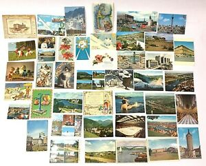 Stockholm Sweden Post Card Collection Lot of 41 Vintage Photo Cards - Lot 3 of 3