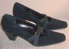 Dressbarn Black Pumps Sz. 7.5 M~ Leather Fabric Upper ~ Gently Worn~No Box