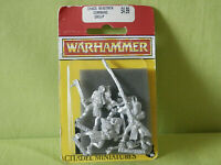 A1 WARHAMMER CHAOS BEASTMEN COMMAND GROUP METAL OOP IN BLISTER
