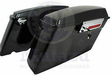 Complete Hard Saddlebags for Harley Touring Road Street Electra Glide Vivid Blk