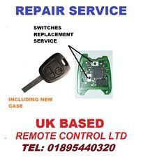 Citroen C1 C2 C3 C4 C5 & Partner Remote Key Fob Repair Service Micro Switches
