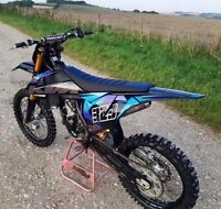 KTM  Customisable Black Factory SX125/250 Graphics Decals Kit Any Year 2000-2017