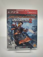 PS3 Greatest Hits UNCHARTED 1 & 2 AMONG THIEVES Game of the Year Edition - 2 CDs