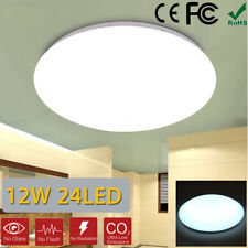 12W 6400K 24 LED LAMPADA SOFFITTO PLAFONIERA MODERNA LUCE 36CM BAGNO DIMMERABILE
