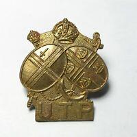 VINTAGE Upper Thames Patrol UTP Home Guard Unit Military Cap Badge - P19