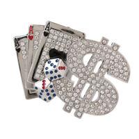 American Style Poker Carved Rhinestones Belt Buckle Hip-Hop Metal Cowboy Jewelry