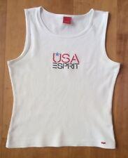 🇺🇸 Esprit 🇺🇸 Achselshirt, Tanktop, ärmelloses Shirt Weiß mit Logo Gr. S
