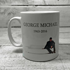 GEORGE MICHAEL RIP 1963-2016 TRIBUTE MUG CUP GIFT PRESENT PATIENCE IN MEMORY