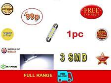 Bombilla LED 36 mm 3 SMD CANBUS FESTOON 12 V C5W 239 Dome errores *** vendedor del Reino Unido
