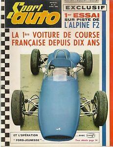 SPORT AUTO 27 1964 ALPINE F2 F3 M64 500 MILES DE DAYTONA AC COBRA TRIUMPH TR4