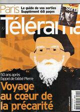 telerama  n°2820 l'abbé pierre  hong sang soo  humour