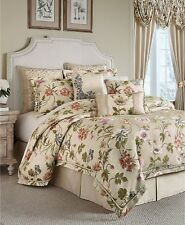 Croscill Daphne WEST COAST KING 4 Piece Comforter Set Floral Ivory SHAMS NEW