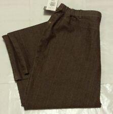 NEW Allison Daley Dark Brown Tummy Slim Fit Comfort Waist Pants Size 14