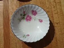 "Johnson Brothers JB 602 snow white regency pink roses 6"" cereal bowl"