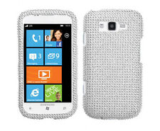 For Samsung Focus 2 i667 Crystal Diamond BLING Case Snap On Phone Cover Silver