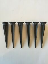 6 Pk Heavy Duty replacement ground stake for Landscape lights With 1/2 FPT Alum