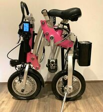 Kwikfold Pro 12 Folding Electric Bike ebike with Battery (Magenta Edition)