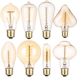 E27 40W Industrial Vintage Edison Bulb Filament Light Warm White Decor Lamp ST
