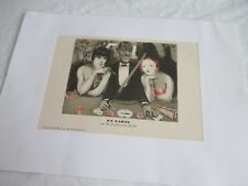 Litho 1927 hors texte grand guignol en carte extrait Le Baccara Auscher Casino