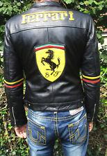 """Ferrari Michael Schumacher Leder Jacke """"7 Times F1 World Champion"""" Da40/42 He48"""