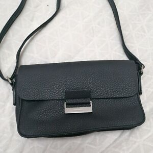Gerry Weber Ladies Handbag Small shoulder bag Black Faux Leather VGC adj strap
