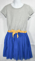 Girls BOUTIQUE HANNA ANDERSSON SOLID BLUE SHORT SLEEVE DRESS 130 8 Years CUTE