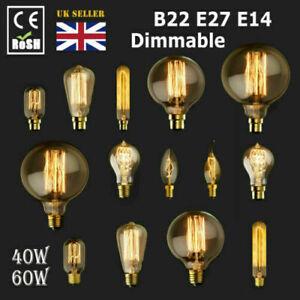 E27 E14 B22 Vintage Antique Style Edison Bulbs Industrial Filament Light Bulb
