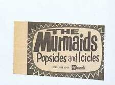 MURMAIDS POPSICLES & ICICLES Press Clipping 1964 9x6cm (3/1/64)