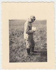 (N132) Orig. Foto 2.WK, Luftwaffe-Pilot in voller Fliegerkleidung, 1940er