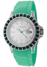 I by Invicta 10067-002 Women's Watch Green Polyurethane Silver-Tone Dial