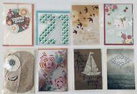 Lot of 8 Hallmark Signature Greeting Cards Life Fun Love Friendship 21 Thank You