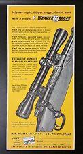 Vintage 1963 W.R. Weaver Co - K Weaver Scope Ad