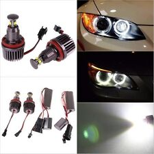 BRIGHTEST BMW E90 E92 E93 E70 X5 LED 80W H8 6000K Angel Eye Halo Rings E91 E71
