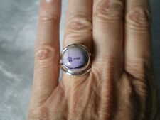 Tiffany Opal round ring, 8 carats, size N/O, 4.1 grams of 925 Sterling Silver