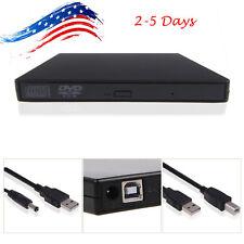 USA External USB 2.0 Region Free DVD Burner Slim CD-RW ROM Combo Player Drive