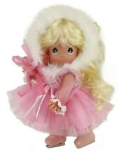"Precious Moments Doll Christmas Pink Ice Skater 12"" Doll Skating Through Life"
