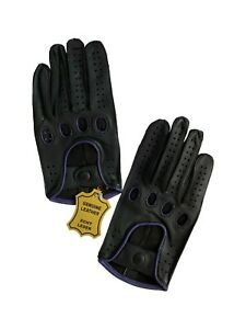 Men's Real Leather Car Driving Chauffeur Gloves Biker Touch Screen TOP QUALITY
