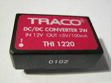 THI 1220  TRACO Power DC/DC Converter IN 12 VDC, Out 5 VDC/ 100mA, 2W,