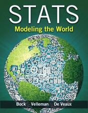 Stats: Modeling the World. LIKE NEW Never Used! Velleman Bock DeVeaux 0321854012