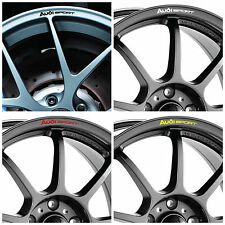x8 Audi SPORT Motorsport Rims Alloy Wheels Decal Curved Stickers for All Models